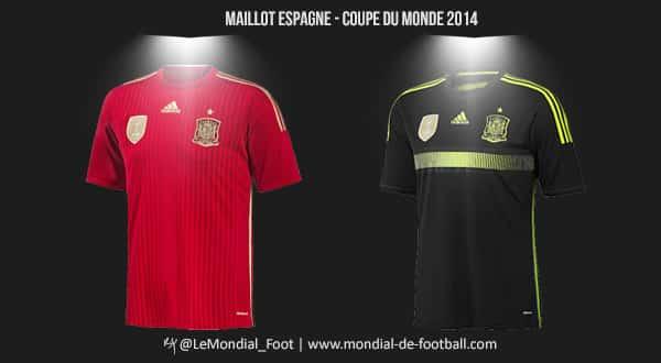 Les maillots de l espagne pour la coupe du monde 2014 - Maillot allemagne coupe du monde 2014 ...
