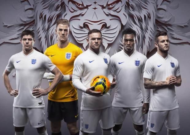 La tenue domicile de l'Angleterre pour la coupe du monde 2014