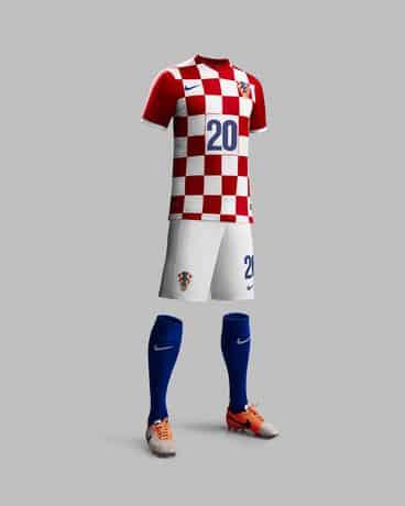La tenue domicile de la Croatie pour la coupe du monde 2014