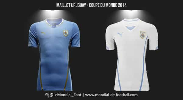 Les maillots de l 39 uruguay pour la coupe du monde 2014 - Maillot allemagne coupe du monde 2014 ...