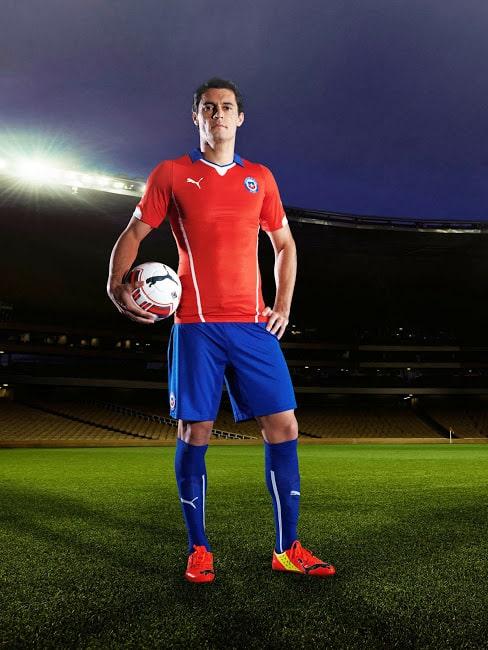 Le maillot domicile du Chili pour la Coupe du Monde 2014