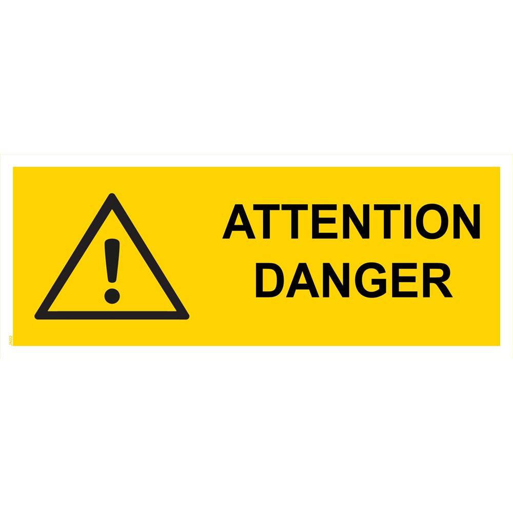 panneau attention danger pvc 200x80 cm