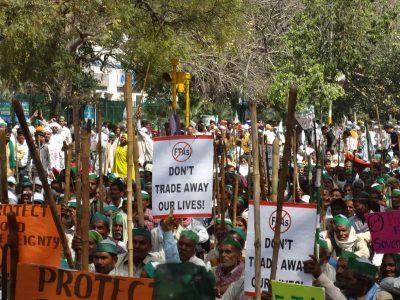Les dangers de l'accord de libre-échange USA-Inde pour les agriculteurs indiens