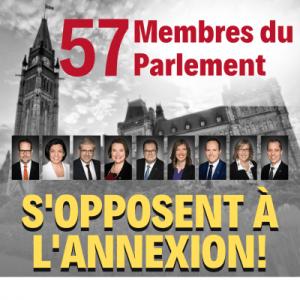 57 députés demandent une action significative contre les plans d'annexion d'Israël