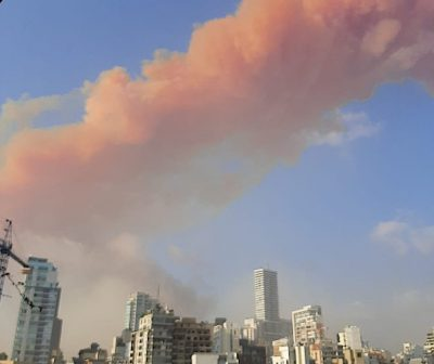 Beyrouth part en fumée