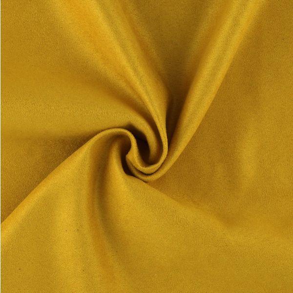 Tissu suédine jaune
