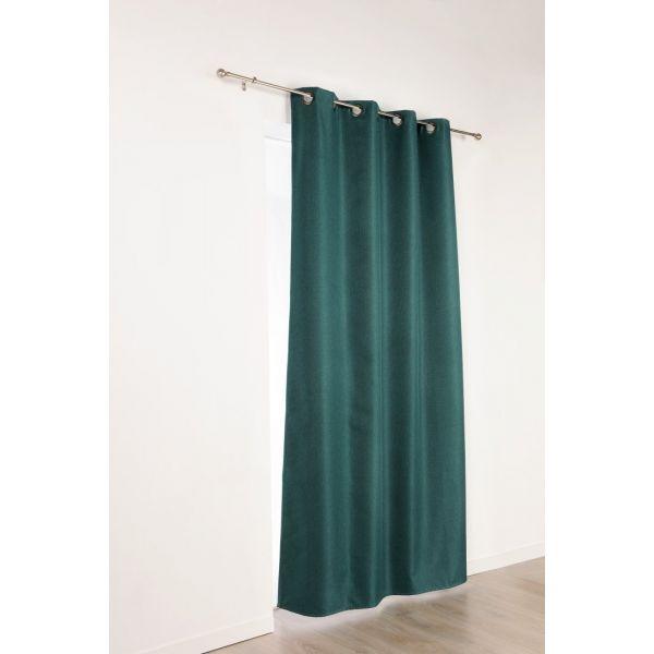 tissu occultant pour rideaux calypso vert sapin