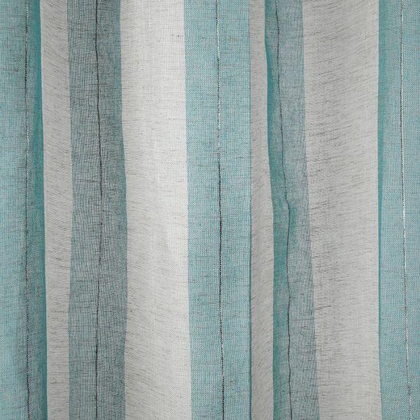 tissu voile rayures bleues rousillon grande largeur