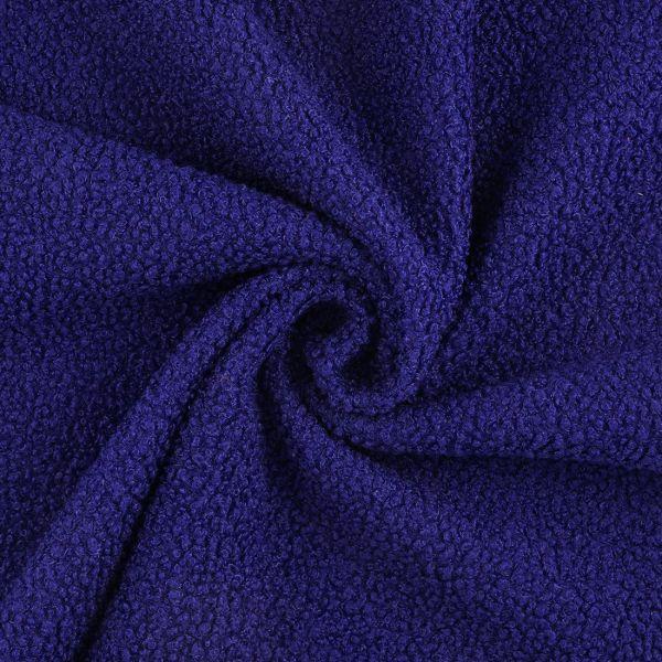 Tissu lainage bleu à bouclette