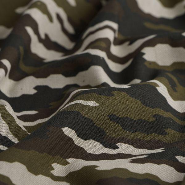 tissu coton epais camouflage