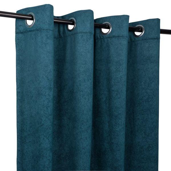 rideau bahamas en velours bleu