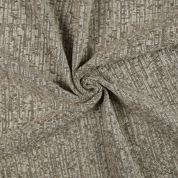 tissu velours epais taupe chine chenille