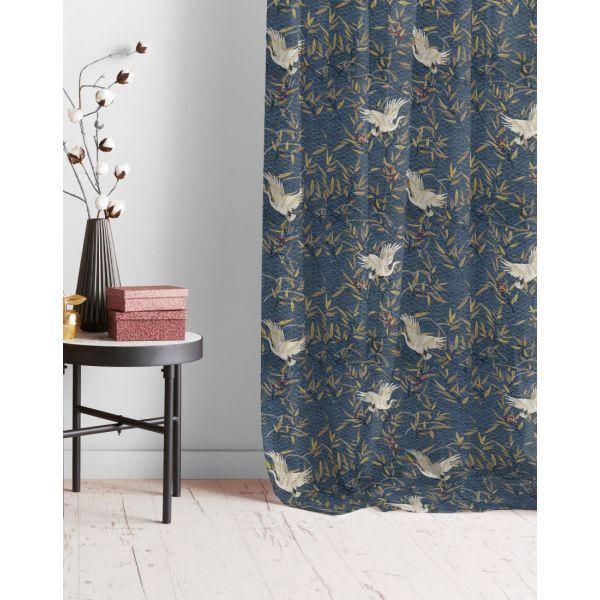 https www mondialtissus fr tissu coton epais bleu motif japonais grue 240626 html