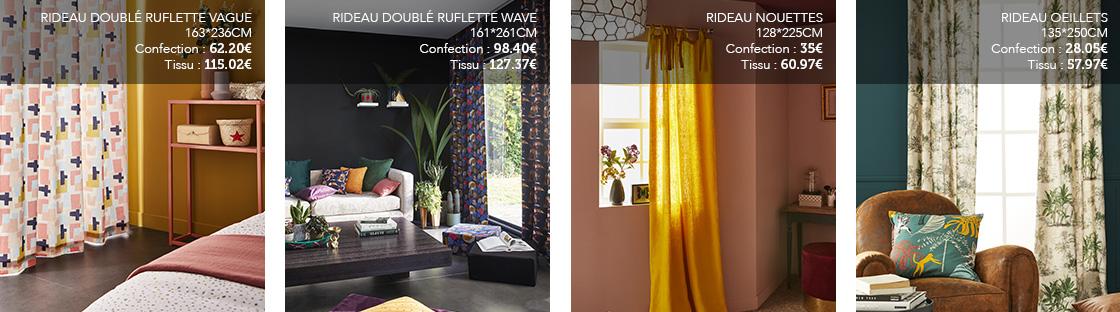 rideaux simples sur mesure rideaux
