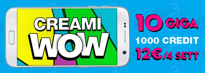 Creami WOW 10 GB, l'offerta limited edition di PosteMobile attivabile fino a fine marzo