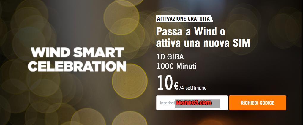 Wind Smart Celebration, offerta online per pochi giorni