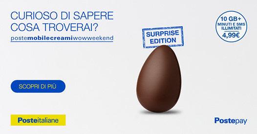 Minuti e SMS illimitati con 10GB a meno di 5€/mese nella Pasqua di Poste Mobile