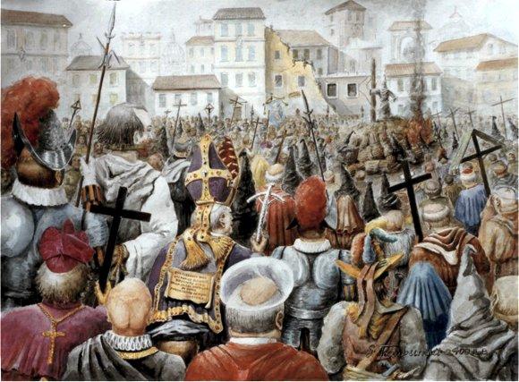 Giordano Bruno-i Campo dei Fiori-17 Febbraio 1600