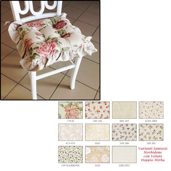 Concrete pastries encourage il favoloso cuscino per sedia di angelica home & country della collezione rose couture | cuscini per sedia,. Cuscino Sedia Morbidone Con Volant Doppio Country 40x40 Double Face Mondobrico Centro Fai Da Te