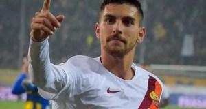 Roma, il giocatore Lorenzo Pellegrini