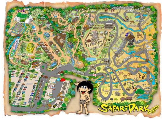Mappa del parco Safari Park