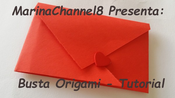 Busta Origami, video tutorial