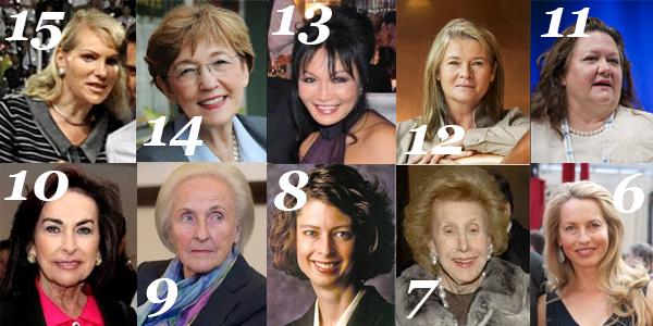 Donne imprenditrici famose le donne più ricche del 2014