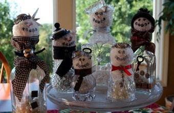 Natale fai da te decorazioni con bottiglie vetro