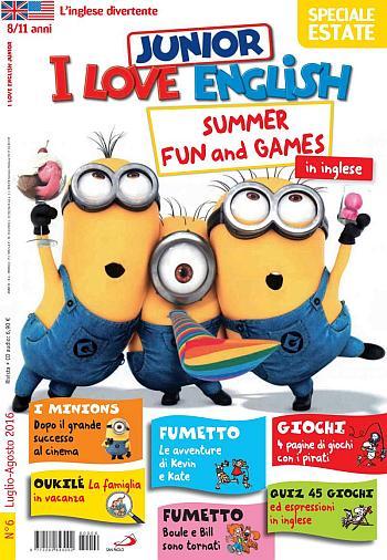 Migliori riviste per bambini I love English Junoir
