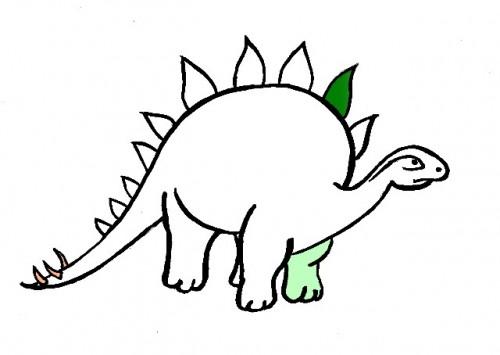 disegni da colorare, Dinosauro - Stegosauro da colorare