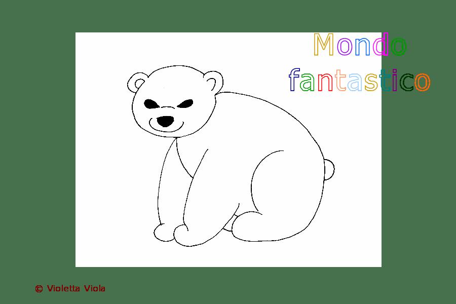 Colorare Gli Animali Lorso Su Mondo Fantastico