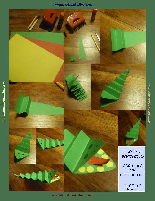 Origami coccodrillo