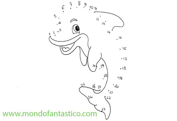 Unisci I Puntini Il Delfino Mondofantastico Com