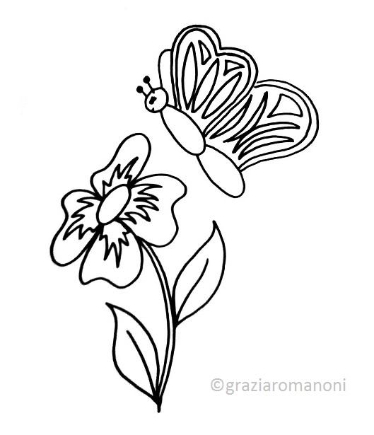 Disegnare E Colorare Una Farfalla Mondofantastico Com