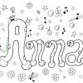 Nomi da colorare su MondoFantastico Anna
