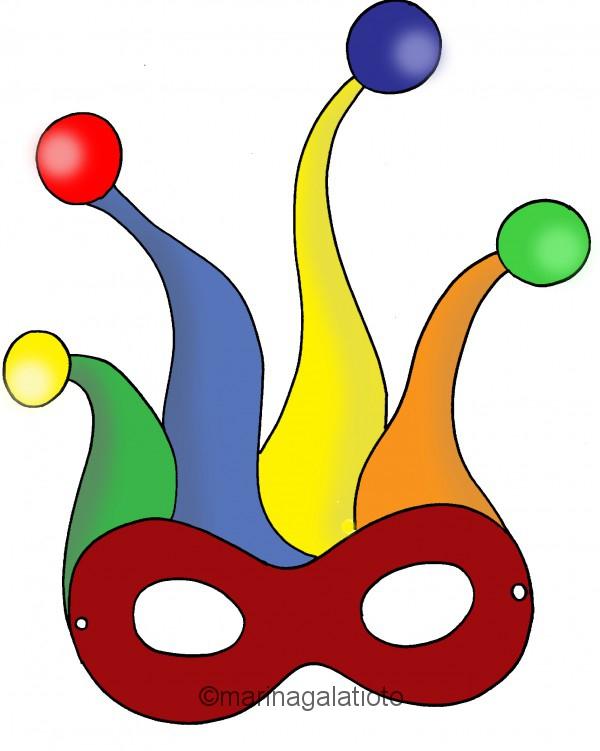 Maschere Di Carnevale Da Colorare Mondofantasticocom