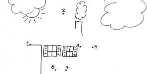 Immagini per bambini piccoli, unisci i puntini e colora