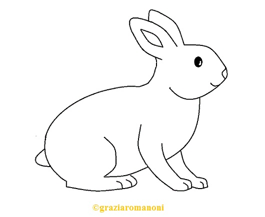 Disegni Da Colorare Animali Il Coniglio Mondofantasticocom