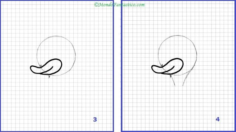 Disegna Paperino - Immagini 3 e 4