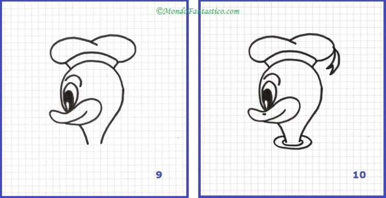 Disegna Paperino - Immagini 9 e 10