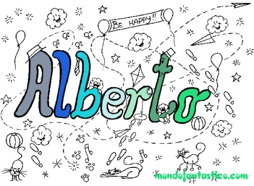 Nomi da colorare Alberto