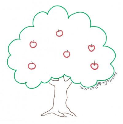 albero con mele piante