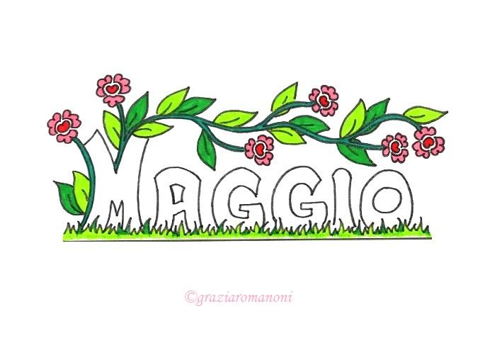 Calendari per i bambini, colora maggio