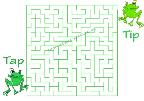 Labirinti per bambini con Le rane Tip e Tap