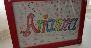 Arianna nomi da colorare nomi femminili da colorare
