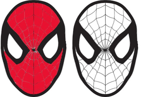 Carnevale maschera di spiderman da colorare for Maschere da colorare spiderman