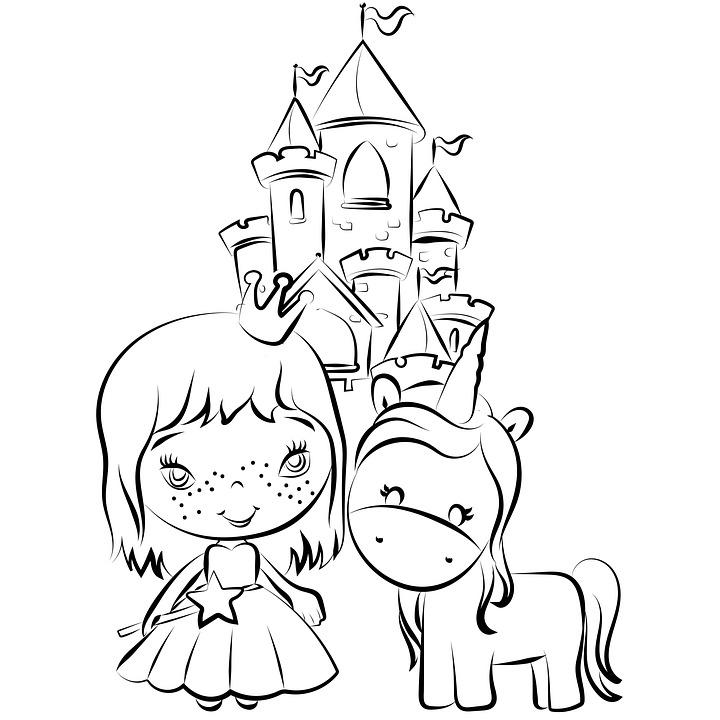 barbie unicorno da colorare  coloring and drawing