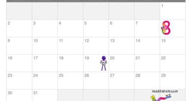 Calendario mese marzo per bambini
