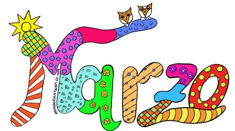 Marzo 2020 per bambini, colora mese marzo