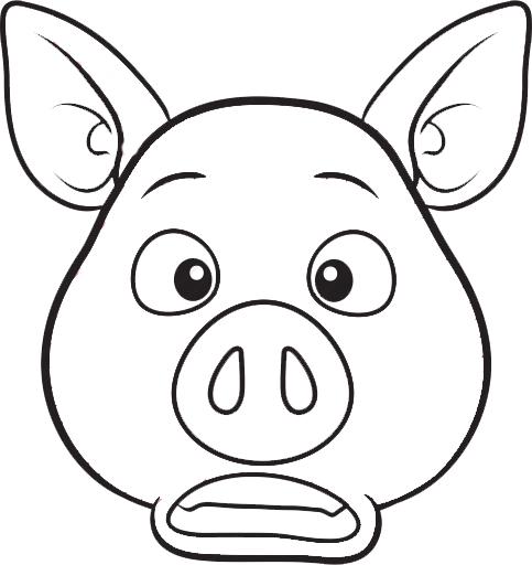 Disegni maschere di carnevale da colorare maschere di animali maialino